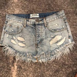 One Teaspoon 4040 Mini Skirt